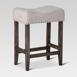"24"" Rumford Saddle Counter Stool Grey Threshold"